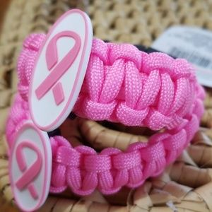 Jewelry - Mother Daughter Breast cancer awareness bracelets